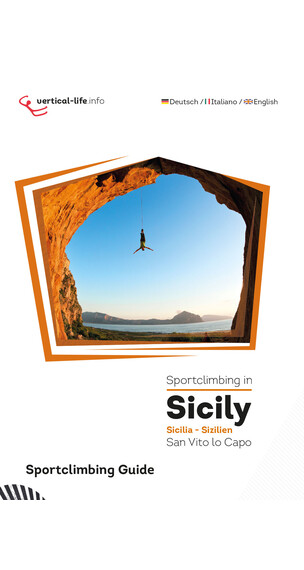 Vertical-Life Sportclimbing in Sicily - orange/blanc